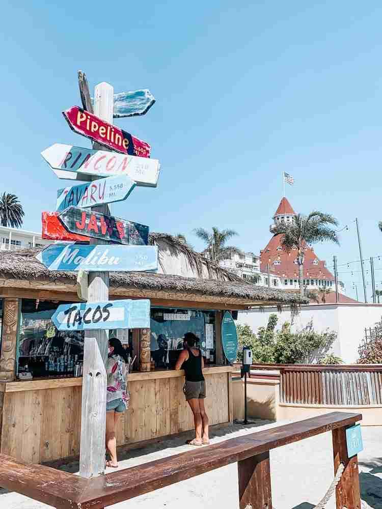 Beach and Taco Shack at Hotel Del Coronado