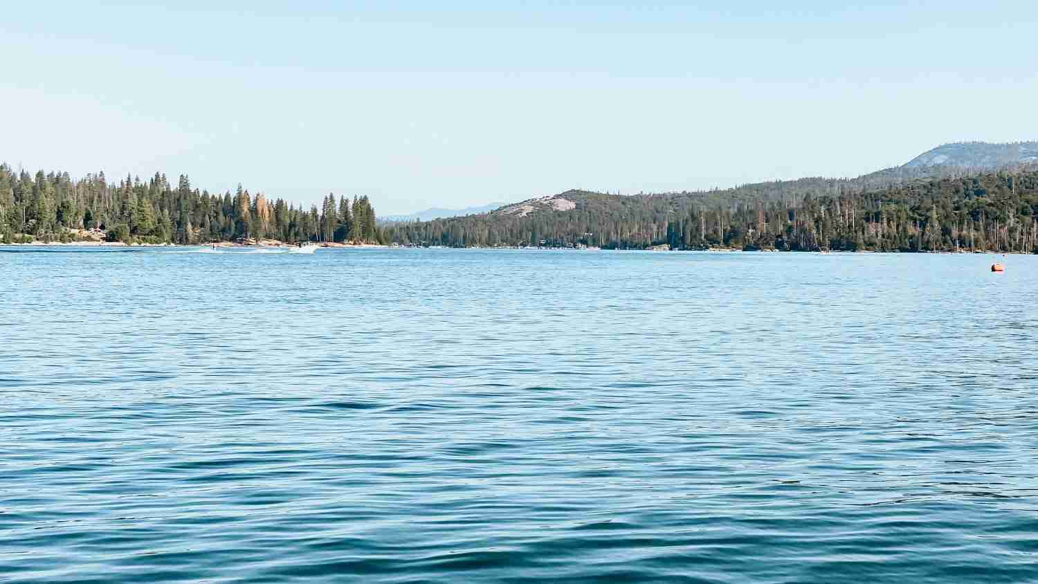 Still morning water on Bass Lake California