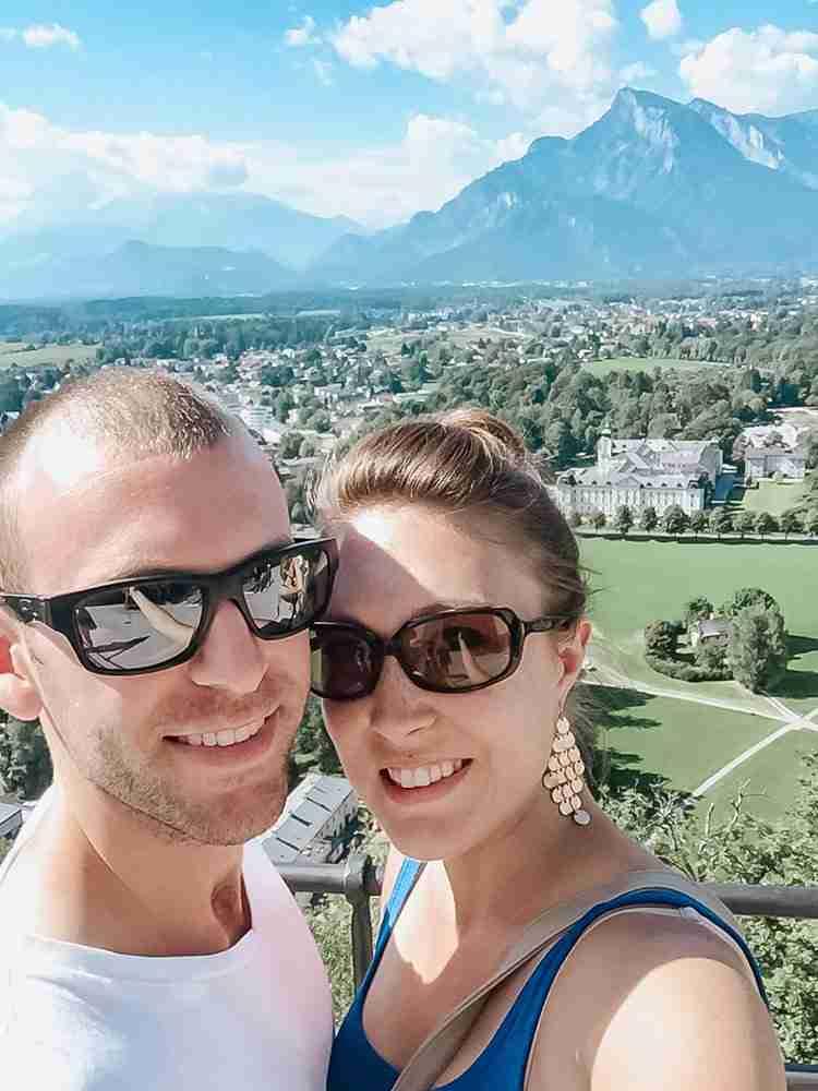 Travel as a Couple Salzburg Austria hilltop