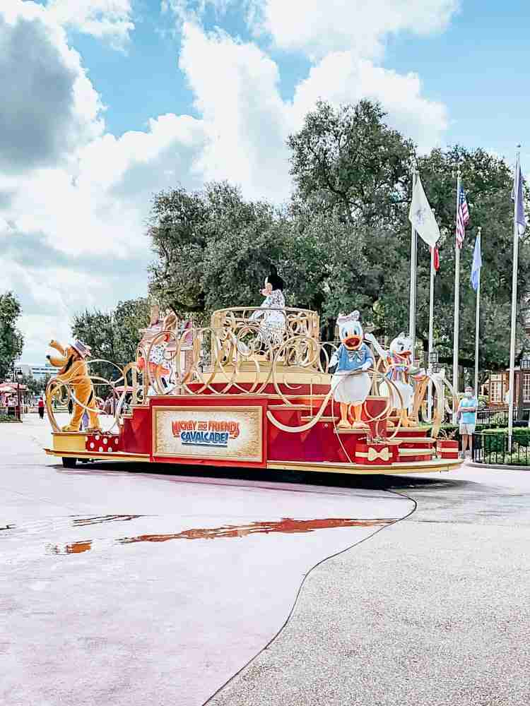 Mickey & Friends Cavalcade after Disney Parks reopening