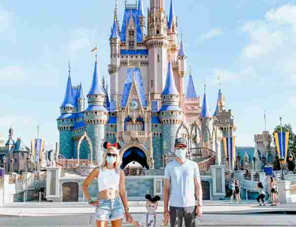 Family at Magic Kingdom after Disney Parks Reopening