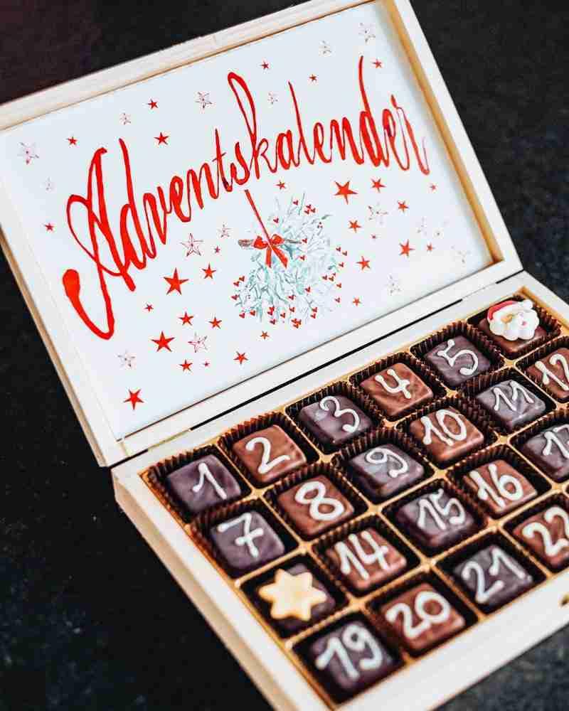 German Advent Calendar box of chocolates