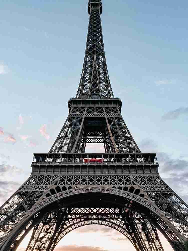 Eiffel Tower major landmark for trip itinerary