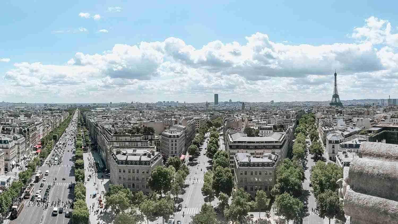 High view of Paris