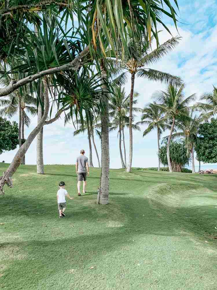 Plan your trip with time for kids to run on open grass