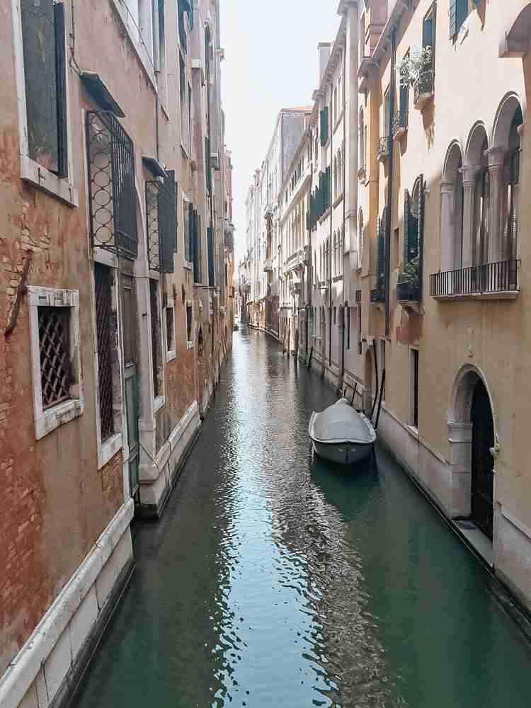 Quiet Venice canal in July