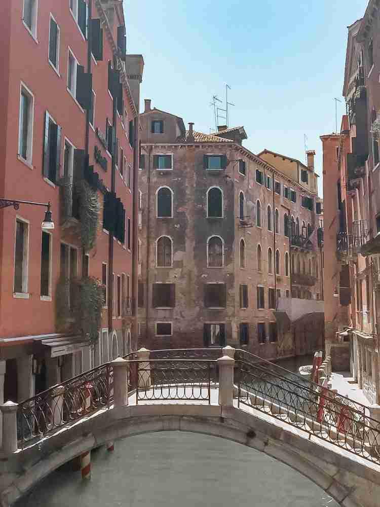 Bridge over little canal in Venice