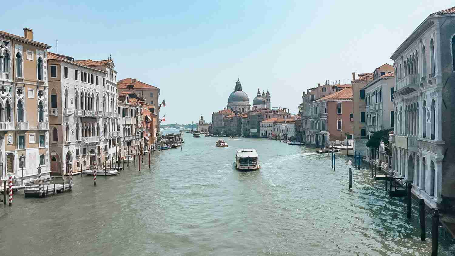 Grand Canal in Venice in July