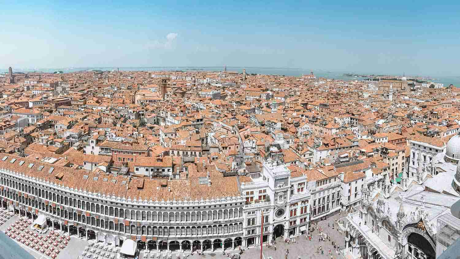 Aerial view of Venice from tower in St. Mark's square